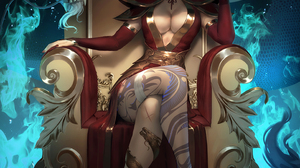 Illustration Artwork Digital Art Fan Art Drawing Fantasy Art Fantasy Girl Women Zarory Princess Azul 2882x4000 Wallpaper