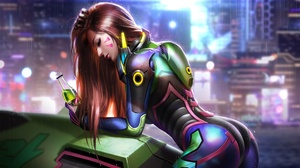 Girl With Weapon Game Characters D Va Overwatch Overwatch Liang Xing 3840x2160 Wallpaper