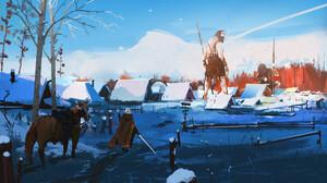 Ismail Inceoglu Fan Art Video Games The Witcher Geralt Of Rivia Artwork Video Game Art Giant Roach S 2500x1403 Wallpaper