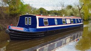 Artistic Narrowboat 3840x2160 Wallpaper