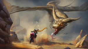 Dragon Motorcycle Wyvern 1920x1080 Wallpaper