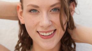 Women Smiling Blue Eyes Teeth Brunette 1920x1280 Wallpaper
