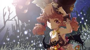 Artwork Fantasy Art Anime Girls Top Hat Halloween Redhead 3196x1856 Wallpaper