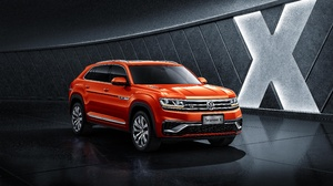 Car Orange Car Suv Vehicle Volkswagen Volkswagen Teramont 5120x2880 Wallpaper