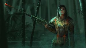 Girl Sniper Woman Warrior 3840x1772 Wallpaper