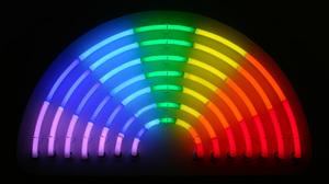 Lights Color Correction Colorful Spectrum Dark Classical Rainbows Neon 1717x1000 Wallpaper