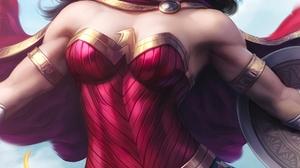 Wonder Woman Justice League DC Comics Women Movies Vertical Superhero Diana Wonder Woman Drawing Fan 1800x2600 wallpaper