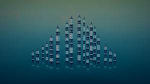 Townscaper Tower Digital Art Skyline Minimalism Video Game Art Architecture Video Games 2560x1440 Wallpaper