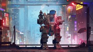 Futuristic Robot 3840x2007 Wallpaper