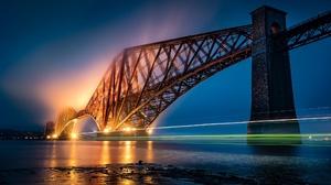Edinburgh Forth Bridge Light Night Scotland 2048x1148 wallpaper