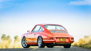 Car Coupe Old Car Orange Car Porsche 912 Sport Car Tuning 2048x1152 Wallpaper