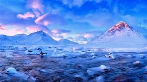 Earth Lake Mountain Snow Winter 1920x1080 Wallpaper