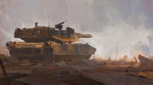 Rostyslav Zagornov Artwork Vehicle Tank Military Vehicle Military 2000x1056 Wallpaper