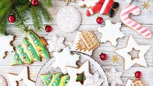 Christmas Cookie Gingerbread Still Life 3879x2786 Wallpaper