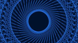 Blue Digital Art Lines Spiral 8500x4500 Wallpaper