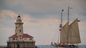 Chicago Illinois Lake Lake Michigan Lighthouse Sailboat Schooner Tall Ship 2048x1367 wallpaper