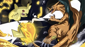 Charizard Pokemon Pikachu 2672x1536 Wallpaper
