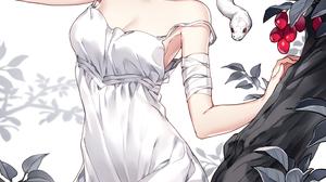 Anime Anime Girls Digital Art Artwork 2D Portrait Display Vertical Nardack Trees Berries Snake Short 923x1600 Wallpaper