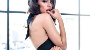 Phoebe Tonkin Women Model Actress Dark Hair Brunette Women Indoors Bunny Ears Black Clothing 2000x2524 Wallpaper