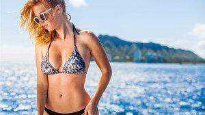 Bikini Freckles Sunglasses Redhead 1440x960 Wallpaper