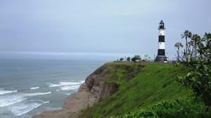 Man Made Lighthouse 2592x1944 Wallpaper