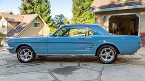 1966 Ford Mustang Blue Car Car Coupe Muscle Car Old Car 2048x1365 Wallpaper