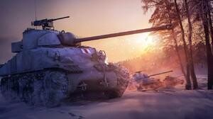 Winter Tank Vehicle Military Military Vehicle World Of Tanks PC Gaming Video Game Art 1332x850 Wallpaper