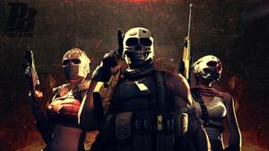 Warrior Soldier Weapon Gun Machine Gun Mask 1920x1080 Wallpaper