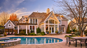 Building Courtyard House Pool 2048x1152 Wallpaper