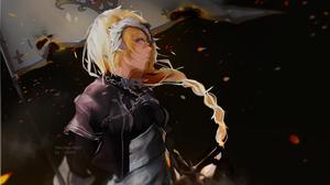 Blonde Blue Eyes Braid Fate Grand Order Girl Jeanne D 039 Arc Fate Series Ruler Fate Grand Order Wom 3000x1800 Wallpaper