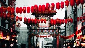 China City Gate Light 1920x1200 Wallpaper