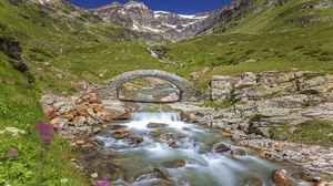 Alps Italy Mountain Stream 3072x2048 wallpaper