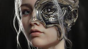 Artwork CGi ArtStation Face Fantasy Girl Fantasy Art 1920x2743 Wallpaper