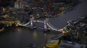 City London Night River Tilt Shift Tower Bridge United Kingdom 6343x4229 wallpaper