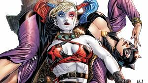 Harley Quinn Catwoman DC Comics Superheroines Superhero Costumes Women Comics Artwork Fantasy Art Co 1920x1080 Wallpaper