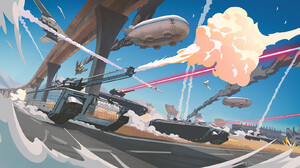 Olga Kim War Tank Vehicle Military Vehicle Military ArtStation Artwork Science Fiction Futuristic 1920x900 Wallpaper