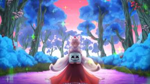 Artistic Dj Edm Electronic Music Marshmello Dj Momiji Inubashiri Touhou 2048x1194 Wallpaper