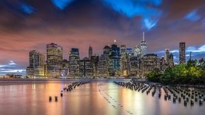 Building City New York Night Sky Skyscraper Usa 2048x1227 Wallpaper