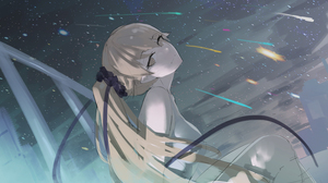 Anime Anime Girls Asa Ni Haru Artwork Monogatari Series Oshino Shinobu 3000x1875 wallpaper