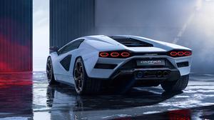 Lamborghini Countach Lamborghini Car Italian Supercars Vehicle Supercars White Cars Warehouse Low Li 3840x2160 Wallpaper