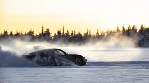 Porsche Car Winter Snow Sport Car Black Car 4096x2731 Wallpaper
