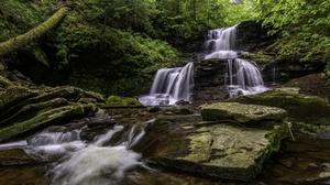 Nature Stream Rock Greenery 2048x1126 Wallpaper