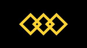 Abstract Black Digital Art Geometry Shapes Yellow 1920x1080 Wallpaper