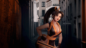 King Of Fighters Mai Shiranui Anime Girls Picture In Picture 1400x900 wallpaper