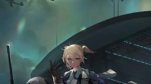 Anime Anime Girls Midfinger Girls Frontline Airplane Vertical Gun 2164x3155 Wallpaper