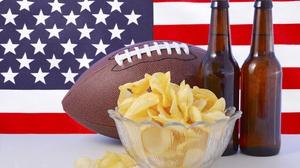 Alcohol American Flag Ball Beer Chips Still Life 2000x1328 Wallpaper