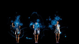 Perfume Band Concerts Hologram Science Fiction Women Asian 1600x900 Wallpaper