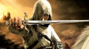 Man Warrior Sword Fantasy 3840x2160 wallpaper