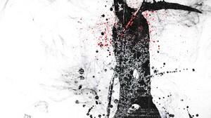 Digital Art Artwork Skull Scythe Grim Reaper Hoods Dots Paint Splatter White Background Selective Co 1920x1200 wallpaper