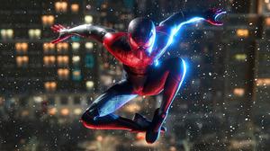Miles Morales Spiderman Miles Morales Spider Man Peter Parker Video Games Video Game Art Colorful Di 3840x2160 Wallpaper